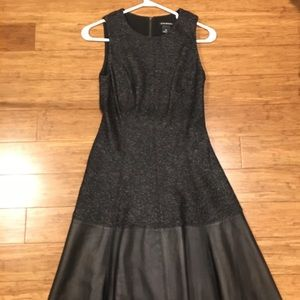 EUC Club Monaco dress w genuine leather detail